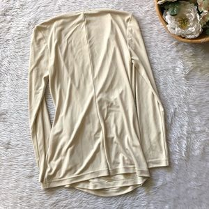 St. John Tops - St.John Light Cream Faux Wrap Blouse